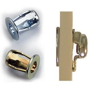 Insert Papillon a sertir acier M6 épaisseur a sertir de 0,4 à 4,7mm : LOT de 50pcs