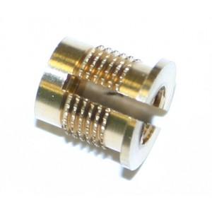 Insert à frapper à collerette laiton M6 x 9,5 SERPLAST - quantité/sachet : 50pcs