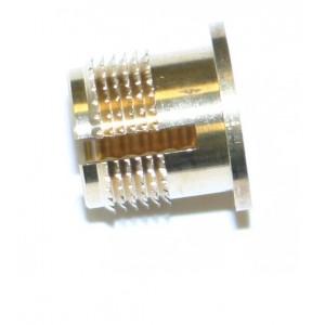 Insert à frapper type C à collerette laiton M6 x 9,5 SERPLAST - quantité/sachet : 100pcs
