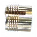 """Insert à frapper SPECIAL """"PLEXIGLAS"""" laiton M6 x 9,5 SERPLAST - quantité/sachet : 100"""