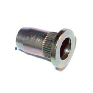 Écrou tête plate Borgne INOX à sertir en aveugle  M10 x22,6 - quantité/sachet : 50