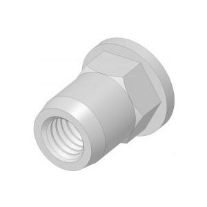 Écrou à sertir en aveugle inox M8 X 15 SERBLOC - quantité/sachet : 100