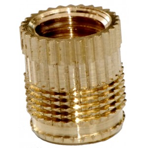 Insert pose a chaud laiton M5 x 6 SERPLAST - quantité/sachet : 100