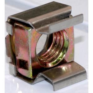 Sercage - Ecrou cage acier acier M6-Pour Baie-sachet de 300 pieces