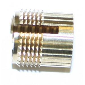 """Insert à frapper SPECIAL """"PLEXIGLAS"""" laiton M4 x 9,5 SERPLAST - quantité/sachet : 20"""
