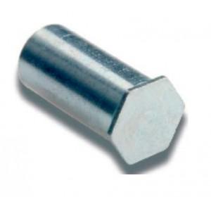 COLONNETTE BORGNE M3-H12mm INOX pour des töles de 1mm mini par sachet de 100 pcs
