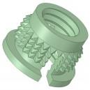 Insert à frapper à collerette laiton M5 x 5,5 SERPLAST - quantité/sachet : 20pcs
